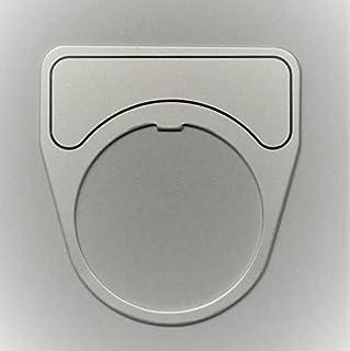 マルヤス電業 φ30スイッチ用銘板(アルミ)、無地、X-30-101