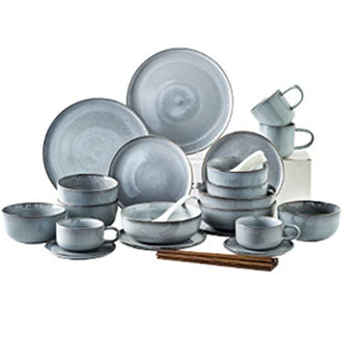 NXYJD Conjunto de vajillas de cerámica de 28 Piezas, vajilla de Cocina con vajilla de vajilla de vajilla de vajilla de cerámica.