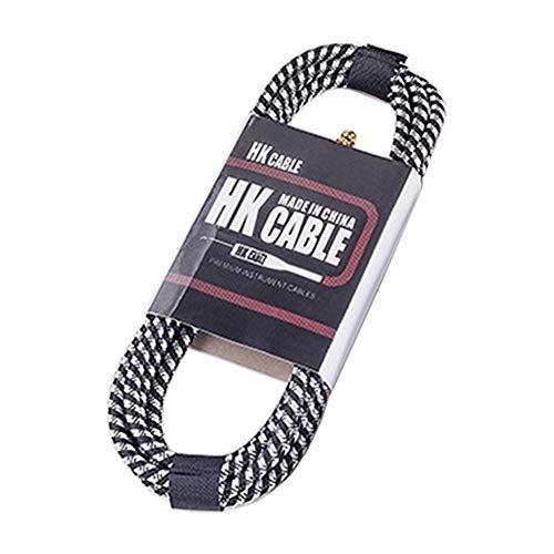 Cable de la Guitarra LLD Madera Conexión Guitarra Bajo Ruido Reducción de Cable Cable de Audio, la Longitud del Cable: 3m, Color al Azar de Entrega Conector de Pedal de la Guitarra