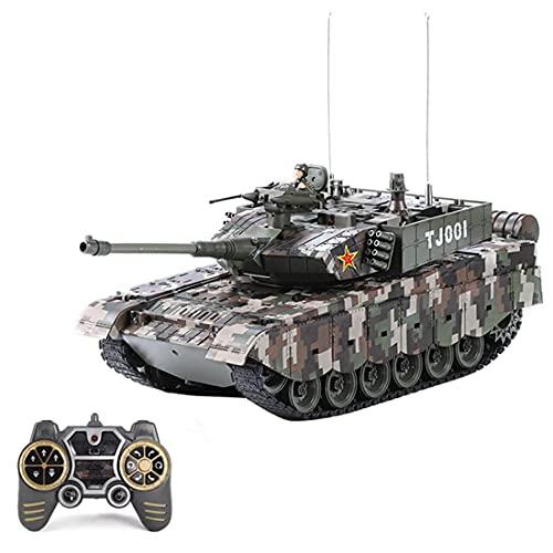 ITop LCF RC Panzer Modell, 1:18 2.4G Ferngesteuerter Militär Panzer Fahrzeug Modell mit Smoke Sound und Light Effekt für Erwachsene und Kinder