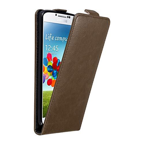 Cadorabo Custodia per Samsung Galaxy S4 in BRUNO CAFFÈ - Protezione in Stile Flip con Chiusura Magnetica - Case Cover Wallet Book Etui