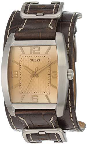 Guess Herren-Armbanduhr Mens Trend Analog Quarz Leder W0186G2