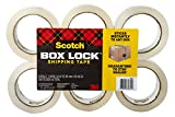 Scotch Box Lock Packaging Tape, 6 Rolls, 1.88 in x 54.6 yd, Extreme Grip, Sticks Instantly to Any Box