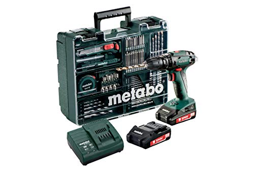 Metabo Akku Schlagbohrschrauber SB 18 Set (mit Akku 2,0 Ah, 18 V, Schlagschrauber mit Koffer + umfangreiches Zubehör - Set) 602245880