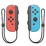 nintendo switch controller set da 2 joystick, rosso e blu