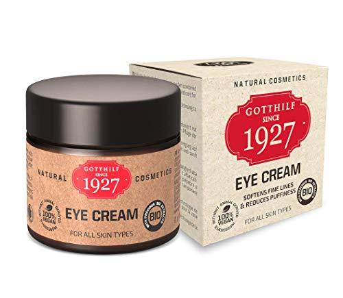 Gotthilf 1927 Eye Cream | Cosmética 100% Natural | Crema Para los Ojos | Fuente de Ácido Hialurónico Natural | Aceite de Semilla de Brócoli | Hidratación| Antienvejecimiento |25ml |Hecho en Alemania