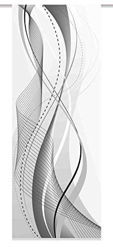 Home Fashion 083152 – 0301 – Biombo, plástico, Gris, 245 x 90 cm