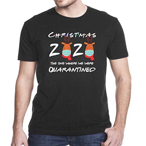 Christmas 2020 Reindeer Wearing face m-a-s-k Pajama quarantined Shirt Hoodie Longsleeve Tanktop (Design - 1)