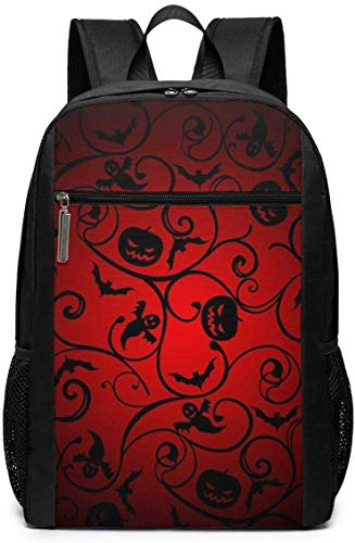 Laptop-Rucksäcke Laptop Backpack Halloween Pattern Wallpaper Background Business Travel Computer Bag for Women and Men College School Backpack Fits in Laptop Notebook Bookbag