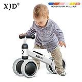 XJD Bicicleta sin Pedales para Bebé de 1 año Bicicleta Equilibrio Bebé para Aprender a Caminar Regalo de Primera Bicicleta para niños Ninas de 10-24 Meses (Blanco)