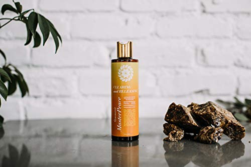 MasterPeace Body Therapy Clearing & Releasing African Black Soap Body Wash - Natural Energizing Body Wash For Women - Soap Made with Shea Butter, Palm Oil, and Coconut Oil