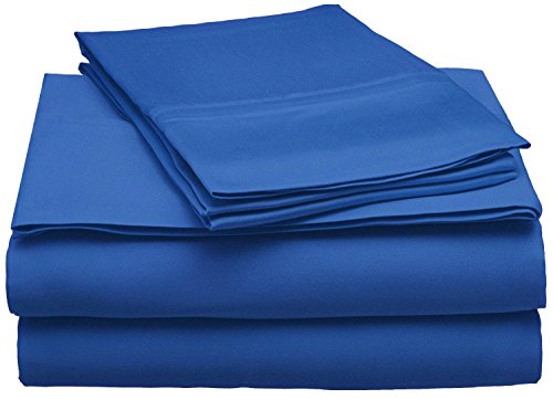 SUPERIOR 300 Thread Count Full Sheet Set, 100% Modal from Beech, Solid, Navy Blue
