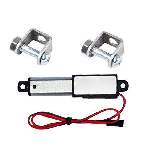 Newin Star Actuador Lineal de 12V 30N Velocidad de 30 mm Longitud 30 mm Micro Mini Mini actuador eléctrico Lineal Impermeable con Soportes de Montaje para el Coche Auto