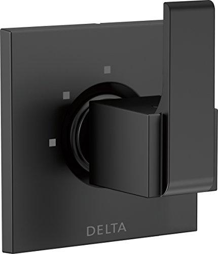 Delta Faucet T11867-BL Ara 3-Setting 2-Port Diverter Trim, Matte Black