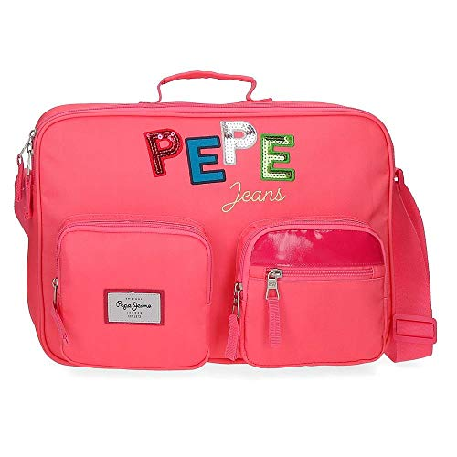 Pepe Jeans Kim School Wallet Pink 38 x 28 x 6 cm Polyester