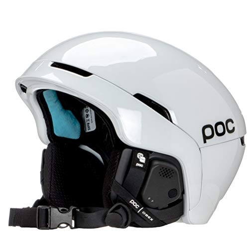 POC Sports Unisex Obex SPIN Communication Snowsporthelm, Hydrogen White, XS-S