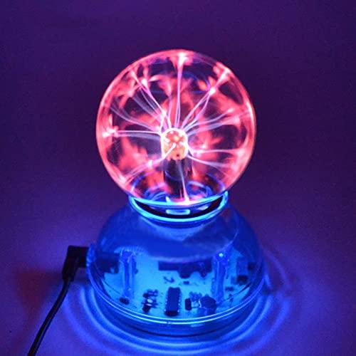 Acreny 3 pollice USB Plasma Ball Elettrostatica Sfera Luce di Cristallo Lampada di Cristallo Touch Control Trasparente Desktop Luci Elettrico Magia Luce Regali