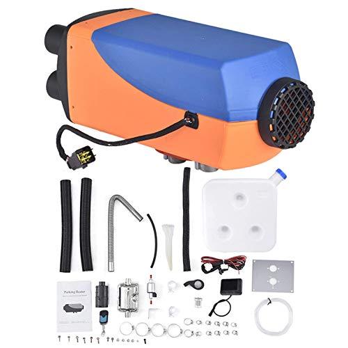Calentador aire para automóvil, 12V 24V 8000W Calentador estacionamiento diesel control remoto con pantalla LCD compatible con camiones, barcos, remolques automóviles, autos turismo, autocaravanas