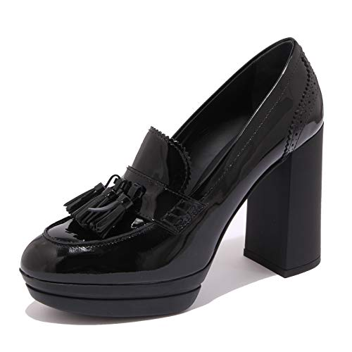 Hogan 7080K Decollete Donna Black H391 Scarpe Vernice patent Shoe Woman [35]