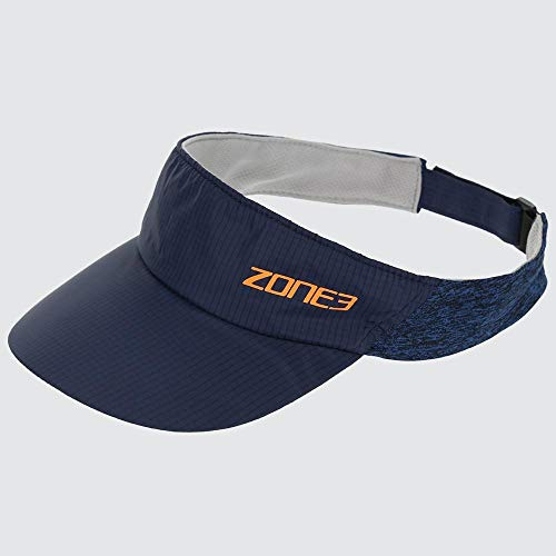 nike running visors Zone3 Lightweight Race Visor for Training and Racing (Navy/Blue Marl/Reflective Orange)