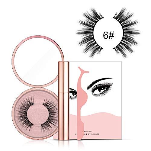 Liquid Eyeliner Magnetische vloeibare eyeliner-set, magnetische vloeibare eyeliner, driedimensionale valwimperset, waterdichte magneet, duurzame eyeliner make-up wimpers pincet 06#