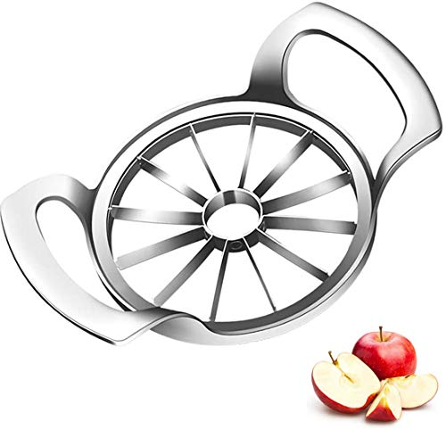 Stainless Steel Apple Slicer with Sharp Blade 12-Blade Extra Large Apple Corer Peeler Tool suitable for up to 4 inches of Apple Pear Orange Tomato Potato