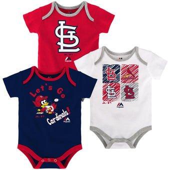St. Louis Cardinals Baby/Infant Go Team 3 Piece Creeper Set 24 Months
