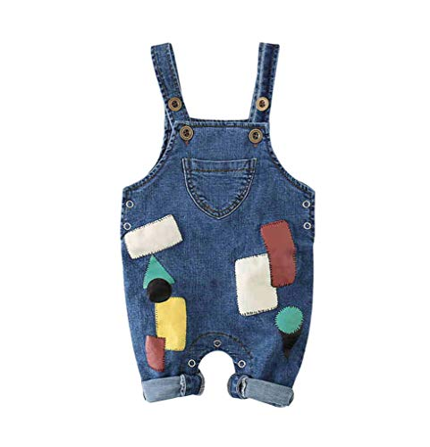 ACMEDE Baby Jungen Denim Overall Jeans Hose mit Hosenträger Kinder Baumwolle Latzhose 0 Monate - 3 Jahre