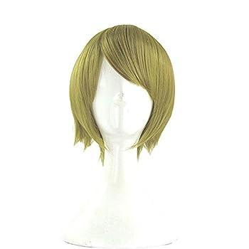 Xcoser Halloween Anime Cosplay Hanayo Short Party Hair Wig for Women