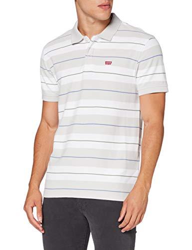 Levi's Herren Performance HM Polo Shirt, Bravado Stripe Oyster Mushroom, XS