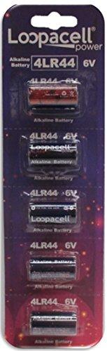 5 Loopacell 4LR44 / 476A / PX28A / A544 / K28A / L1325 6V Batteries