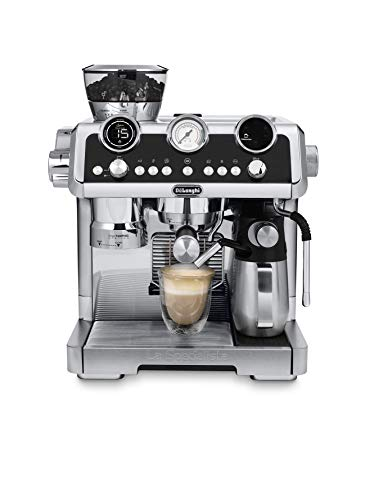 De'Longhi La Specialista Maestro, Pump Espresso Coffee Machine, EC9665M,Black with Sensor Grinding Technology, Smart Tamping Station, Pre-Infusion, Manual and Automatic Milk Frothing Options
