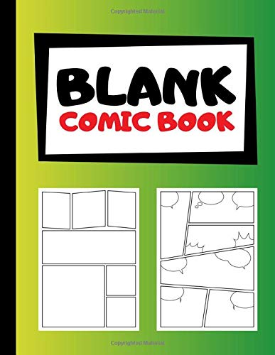 Blank Comic Book: Create Your Own Comics | Blank Comic Templates | 105 Pages | Large, 8.5x11 Inches | Green Yellow