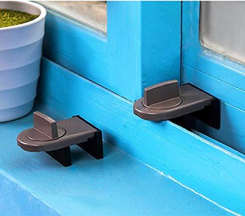 Bloque gris pour portes et fenêtres coulissantes pour la sécurité de bébé et anti-vol (2 pcs)