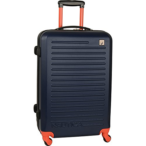 Nautica 24' Hardside Expandable Spinner Luggage, Cherry Red