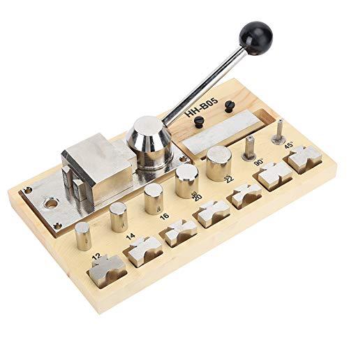 DAUERHAFT Ringbiegemaschine für Schmuck, Biegewerkzeug für Ringe zum Biegen von Ohrringen & Ringen, Werkzeug zur Schmuckherstellung (Metall, Holz)