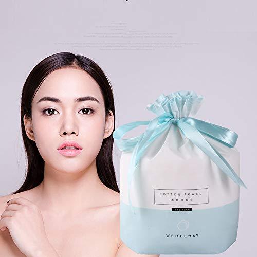 WEF (100 * 3) Serviette de Visage jetable Avancée Coton pour Tissues Nettoyage en Profondeur Et Peau Sensible 3 Bags