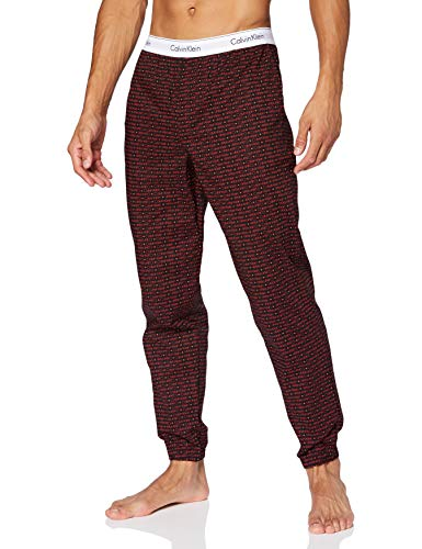 Calvin Klein Jogger Pantalones, Mini Logo Cuadrado_Black, S para Hombre