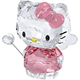 Crystal Cartoon Cat Figurines Car Ornament Cat Aniaml Paperweight Wedding Gift Multicolor Interior,Lady Favor Gift (Pink 2)