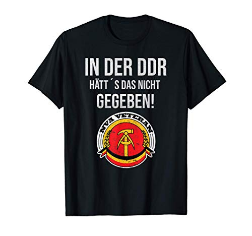 DDR Sprüche | Osten | Ostalgie | DDR Nicki | DDR NVA T-Shirt