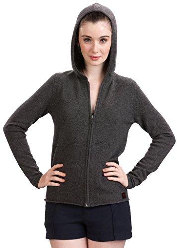 Citizen Cashmere Long Sleeve Zip Up Hoodies Sweaters for Women - Slim Fit Hoodies (XL, Dark Grey) 41 102-09-04