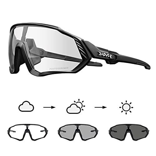 KAPVOE Gafas de Ciclismo Fotocromáticas con TR90 Gafas de Sol Deportivas Mujeres Hombres Running Transparente MTB Accesorios de Bicicleta 02