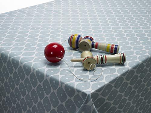 Tovaglia cerata in PVC color carta da zucchero con motivo geometrico ovale di forma rotonda, quadrata o rettangolare, Rectangle 140 x 200cm (55' x 80') long