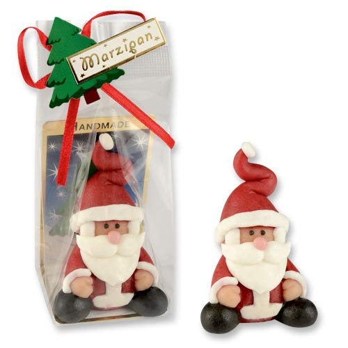 2 x Marzipan Weihnachtsmann, Marzipanfiguren, Marzipan Nikolaus