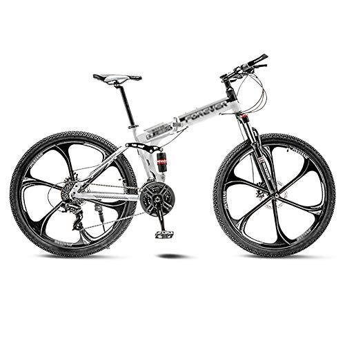 LIUCHUNYANSH Mountain Bike Bicicleta para Joven Las Bicicletas MTB MTB Camino de la Bicicleta Plegable de los Hombres de 21 Pulgadas, Llantas de Velocidad 24/26 for Mujer for el Adulto