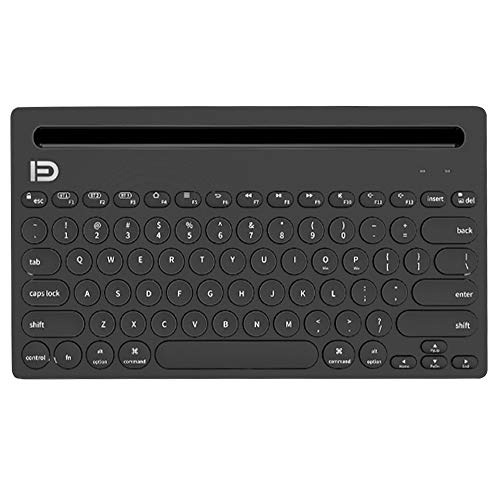 Luopei Teclado Bluetooth inalámbrico Bluetooth Teclado Soporte Multi-dispositivo Multi-dispositivo Bluetooth Teclado Inalámbrico Teléfono Móvil Titular Tableta Soporte Ligero Portátil
