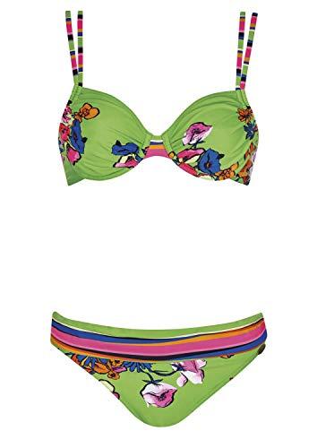 Sunflair Bikini Soft Neon Cup F, Farbe Multicolor, Größe 40