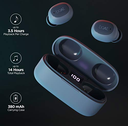 boAt Airdopes 121v2 Truly Wireless Bluetooth in Ear Earbuds with Mic (Midnight Blue)