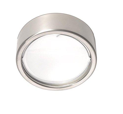 Pujol Iluminación Esferic-Plafon-Aplique Redondo, Bombilla G-9 40 W, difusor Cristal, Acabado niquel Mate