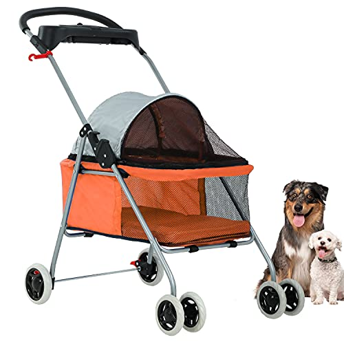 Orange Posh Pet Stroller